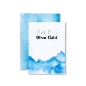 Einladungskarte Kindergeburtstag Mond und Sterne
