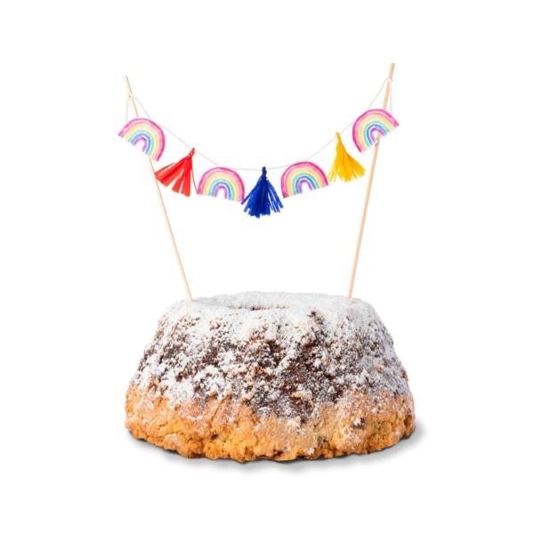 Cake-Topper-Regenbogen-Kuchen