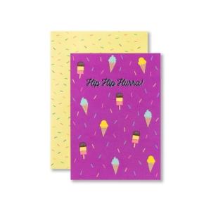 Einladungskarte Kindergeburtstag Ice Cream