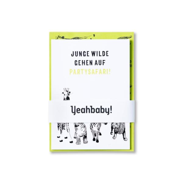 Kindergeburtstag-Einladungskarte-WildeTiere-Set