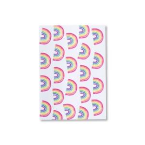 Umschlag für Einladungskarte im Regenbogendesign
