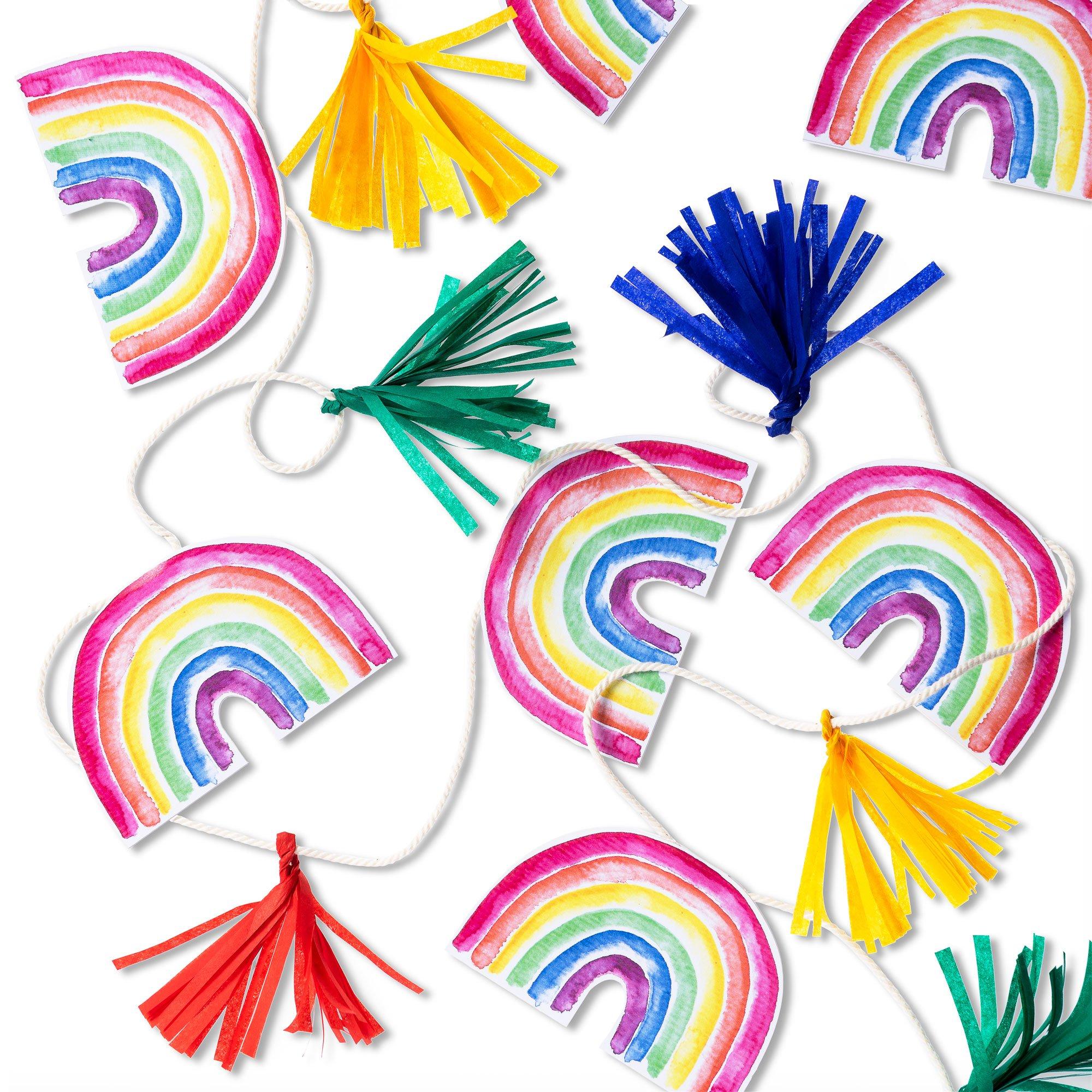 Deko für Euren Regenbogen Kindergeburtstag