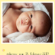 Digitale Geburtskarte Konfetti Gelb