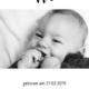 Digitale Geburtskarte Schwarze Pünktchen