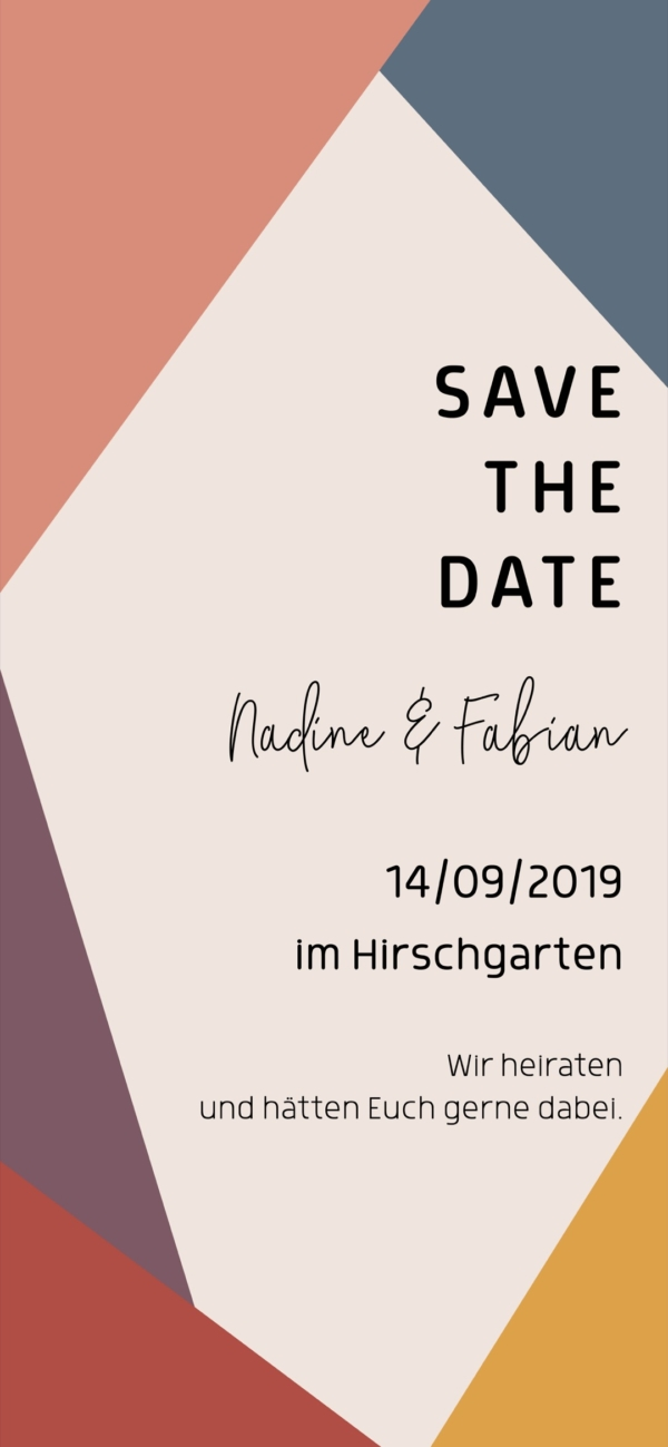 Digitale Einladungskarte Hochzeit Plum